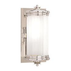 Bristol 1-Light Bathroom Vanity Lighting, Polished Nickel