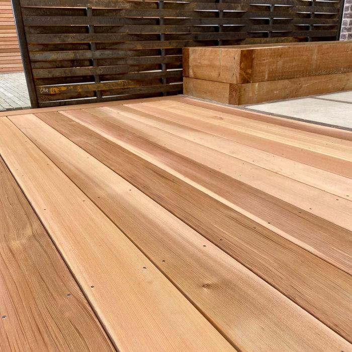 Cedar Decking £15.00 linear m inc vat