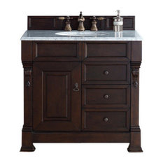 James Martin Furniture Brookfield 36 Single Cabinet With Drawers Burnished Mahogany White