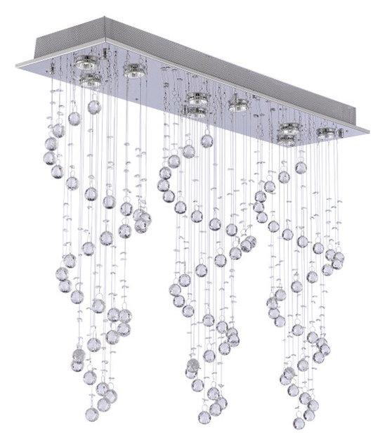 Modern chandelier rain drop crystal ball ceiling lamp contemporary modern chandelier rain drop crystal ball ceiling lamp mozeypictures Gallery