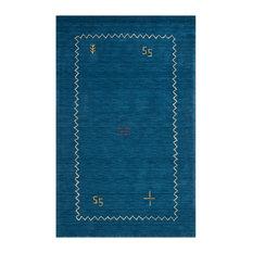 Himalaya Hand Loomed Rug, Blue, 4'x6'