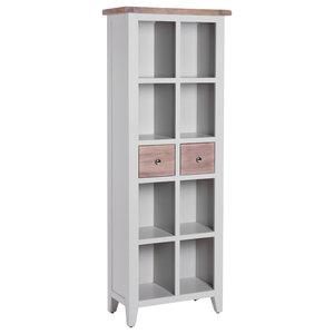 2-Drawer Bookcase, Light Grey