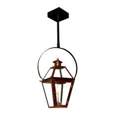 "French Quarter Copper Lantern, New Bronze(brown Color), 21"", Classic Yoke, Natur"