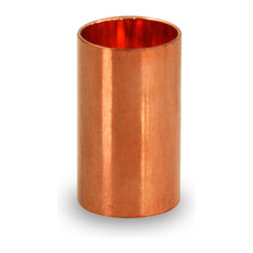 """1/2"""" Nominal Pipe Diameter Straight Copper Coupling, Sweat Sockets and Tube Stop"""