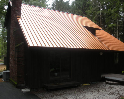 Standing seam metal roof farmhouse craftsman style for Metal roof craftsman home
