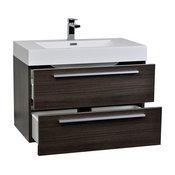 "ConceptBaths 31.5"" Wall-Mount Modern Bathroom Vanity Gray Oak"