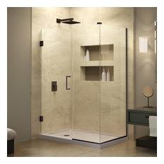 """DreamLine Unidoor 38""""x30.375""""x72"""" Hinged Shower Enclosure"""