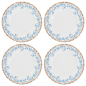 Blue Bamboo Side Plates, Set of 4