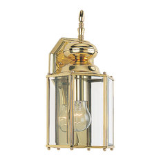 Sea Gull Lighting   Classico 1 Light Outdoor Wall Light, Polished Brass    Outdoor