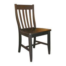 International Concepts   International Concepts SchoolHouse Wood Side Chair  In Black Finish (Set Of Two