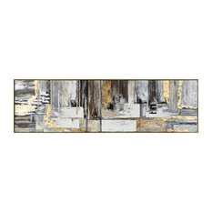 Imax Ps Moulding And Pinewood Wall Art With Gold Finish 14929