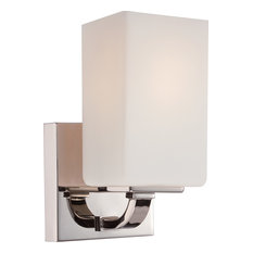 Vista 1 Light Vanity Fixture With Etched Opal Glass