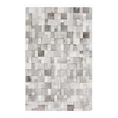 bursa global bazaar mondrian tile gray white cowhide rug 8x10 area rugs