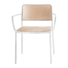 Kartell Audrey Arm Chair, White/Sand, Set of 2