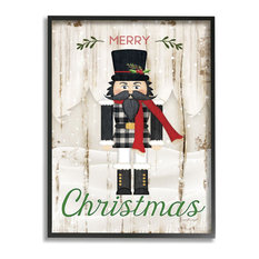 Merry Christmas Holiday Phrase Winter Nutcracker16x20