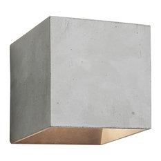Cromia Concrete Wall Light, Grey