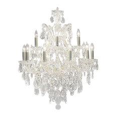 Empress Crystal Trimmed Silver Chandelier