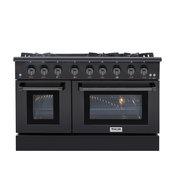 "Thor Kitchen 48"" Professional Gas Range, Black Stainless Steel HRG4808-BS"