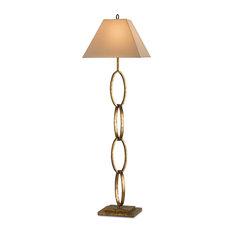 Bangle Floor Lamp, Gold Leaf