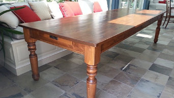 Dining room table,hand planed distress pine