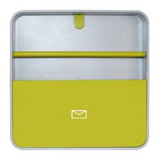Wall-Mounted Document Organiser, Yellow