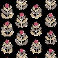 Oslo Red Geometric Tulip Wallpaper, Swatch