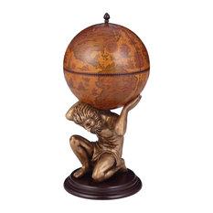 VidaXL Globe Wine Cabinet, Atlas, 42x85 cm