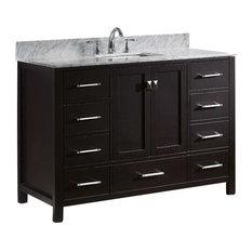 "Caroline Avenue 48"" Single Bathroom Vanity Cabinet Set, Espresso"