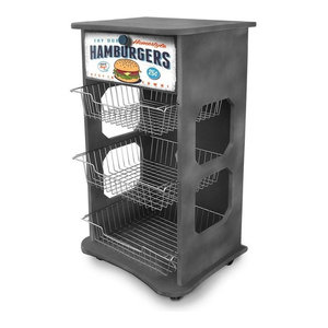 Hamburgers Industrial-Style Storage Trolley