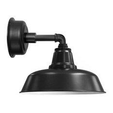 "10"" Goodyear LED Barn Light With Cosmopolitan Arm, Matte Black"