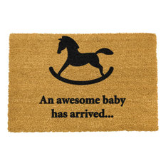 """An Awesome Baby Has Arrived..."" Rocking Horse Doormat"