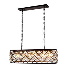 1215 Madison Collection Pendant Lamp,40''x15'',Mocha Brown/Clear