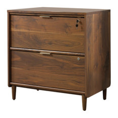 Sauder Clifford Place 2-Drawer Lateral File Cabinet, Grand Walnut