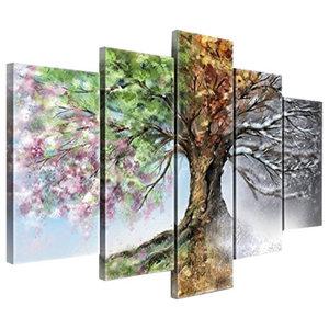 Quattro Stagioni Worldvogue 5-Piece Modern Canvas Wall Art, 150x100 cm