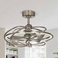 "27"" Solstice LED Ceiling Fan, Satin Nickel"