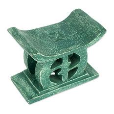 Adinkra, Green Wood Decorative Stool