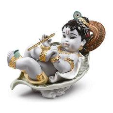 Lladro Krishna on Leaf Figurine 01009370