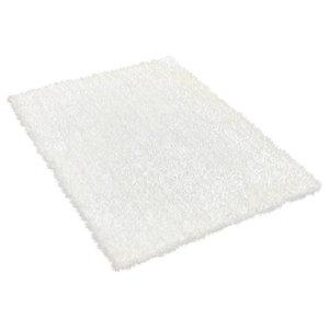 Diva Diva White Rectangle Plain/Nearly Plain Rug 60x120cm