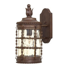"""The Great Outdoors Mallorca 1 Light 16"""" H Outdoor Wall Sconce"""