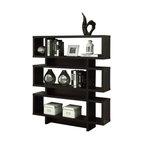 """Monarch 55"""" Modern Hollow-Core Bookcase in Cappuccino"""