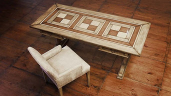 17th century style Desk with chequerboard parquetry