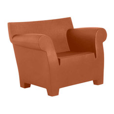 Bubble Club Chair by Kartell, Terracotta