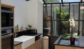 Aménagement d'une cuisine dans une verrière
