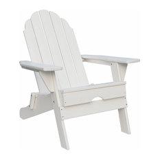 Pemberly Row Folding Adirondack Chair in White