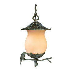 Avian Collection Hanging Lantern 2-Light Outdoor Light, Black Coral