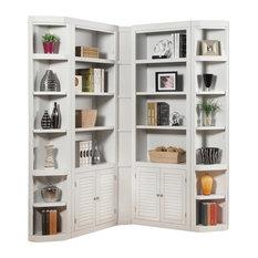 Boca 5-Piece Corner Bookcase, Cottage White