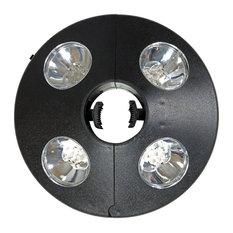 Sunnydaze Battery-Operated Patio Deck Lawn Umbrella Light - 4 LED Lights