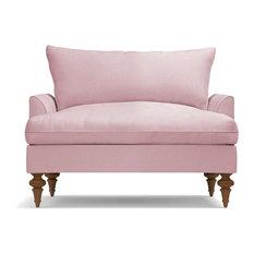 Saxon King Chair, Blush Velvet