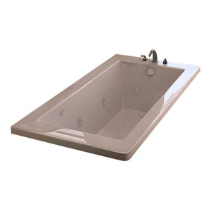 "Venzi Villa 36""x72"" Rectangular Whirlpool Jetted Bathtub By Atlantis"