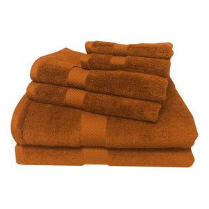 6-PC Super Soft Rayon Bamboo Cotton Towel Set, Copper